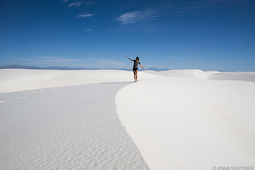 White Sands New Mexico, Photography by Anna Mazurek. Image may not be reproduced without permission.