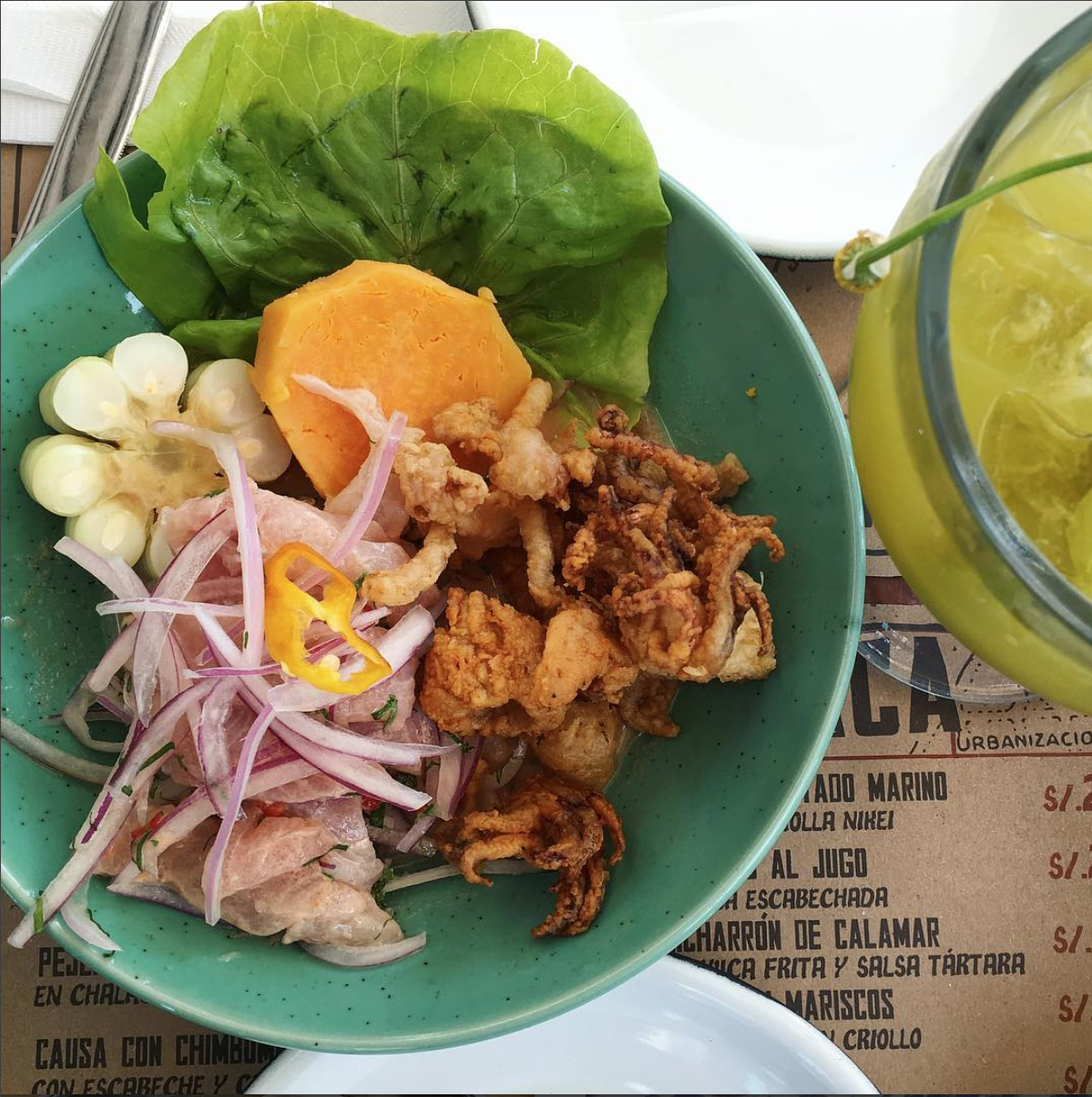 The Frugal Traveler was a big fan of the food in Lima, Peru especially the ceviche! Photo credit: Lucas Peterson
