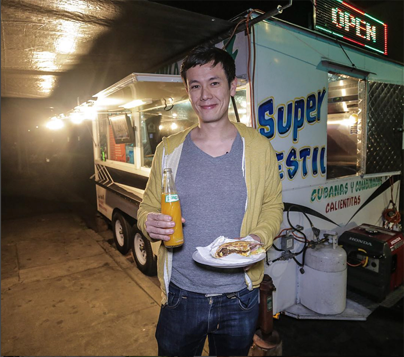 Peterson contributes his love of street food to his ability to travel frugally. Photo credit: Lucas Peterson